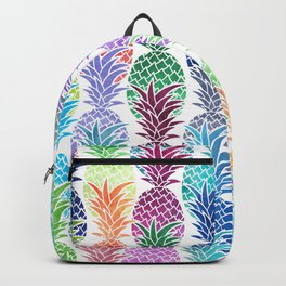 Colorful Watercolor Pineapple Pattern Backpack
