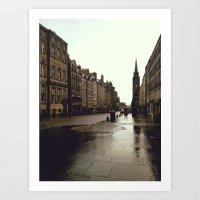 edinburgh Art Prints featuring Edinburgh by Taylor Rae