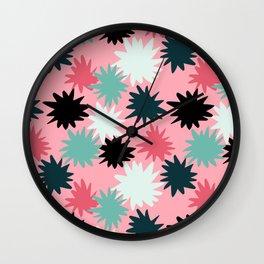 Candy Star Burst Wall Clock