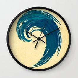 - blue 'davy jones' wave - Wall Clock