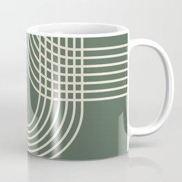 Minimalist Lines in Forest Green Coffee Mug