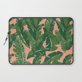 Leaves Bananique in Fresh Salmon Laptop Sleeve