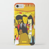 pulp fiction iPhone & iPod Cases featuring Pulp Fiction by Ale Giorgini