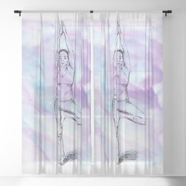 Yoga Print Sheer Curtain
