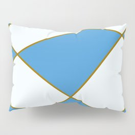 Geometric abstract - blue and brown. Pillow Sham