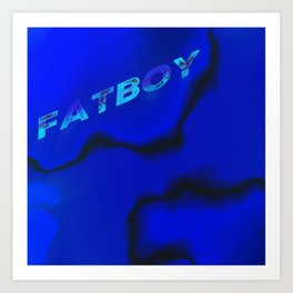 FATBOY MARBLED Art Print