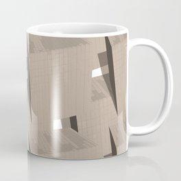 Cubes on a pattern background Coffee Mug