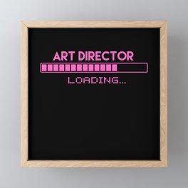 Art Director Loading Framed Mini Art Print