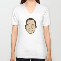 lawyer V-neck T-shirts featuring Faces of Breaking Bad: Saul Goodman by Rob Barrett — Nice Hot Cuppa