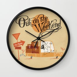 Out on the Weekend Wall Clock