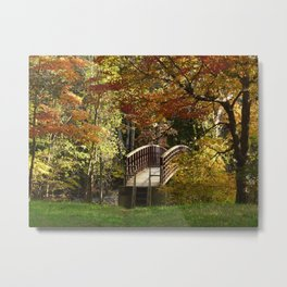 Appalachian Trail Bridge Metal Print