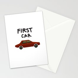 First car Stationery Cards