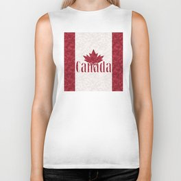 Canada, flag Biker Tank