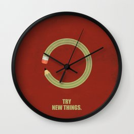 Lab No. 4 - Try new things corporate start-up quotes Poster Wall Clock