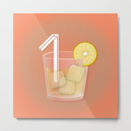 1 is for One bendy straw. Metal Print