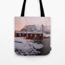 Winter in Lofoten Tote Bag