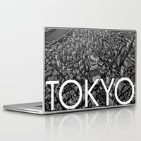 tokyo Laptop & iPad Skins featuring TOKYO by Rothko