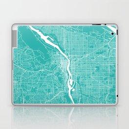 Portland map turquoise Laptop & iPad Skin