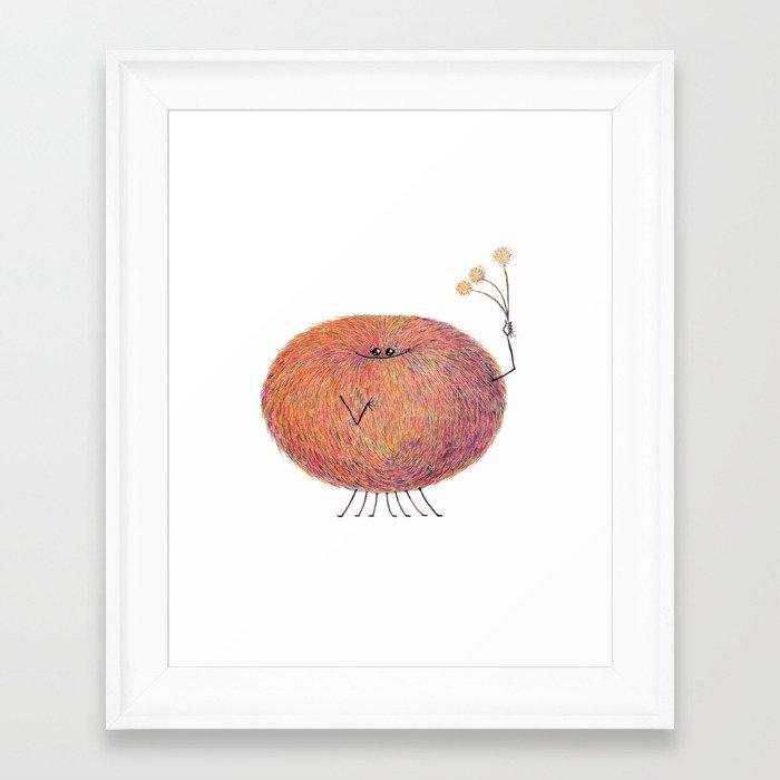 Poofy Streusel Framed Art Print