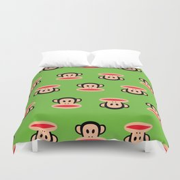 Julius Monkey Pattern by Paul Frank - Green Duvet Cover