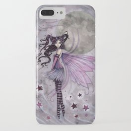 Purple Passion Little Gothic Fairy in the Stars Illustration by Molly Harrison iPhone Case