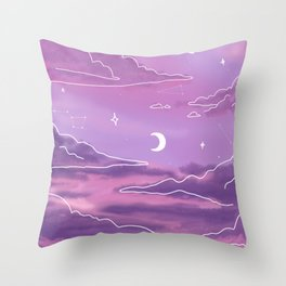 Purple Sunset View Throw Pillow