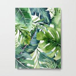 Tropical Jungle Leaves Metal Print