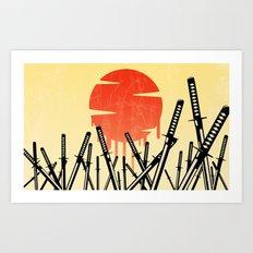 Katana Junkyard Art Print