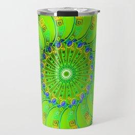 green magic circle 2 Travel Mug