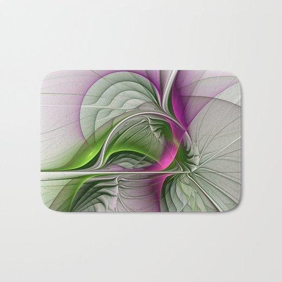 Wild Beauty, Abstract Fractal Art Bath Mat
