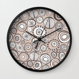 Honolulu hoops clay Wall Clock