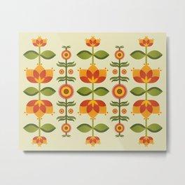 Floral Lines Metal Print