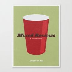 Mixed Reviews - Americna Pie Canvas Print
