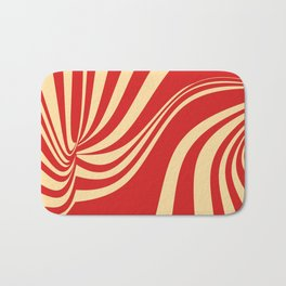 Movement in Red and Cream II Bath Mat