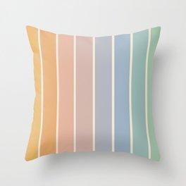 Gradient Arch - Rainbow III Throw Pillow