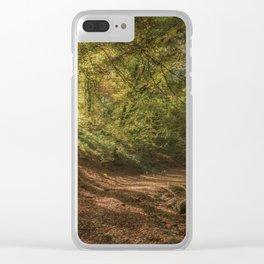 Autumn Woodland  Sunrise Clear iPhone Case