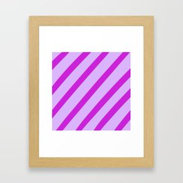 Royal Stripes Framed Art Print