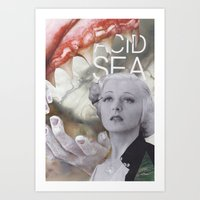 'acid sea' Art Print
