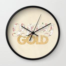 gypsy GOLD Wall Clock