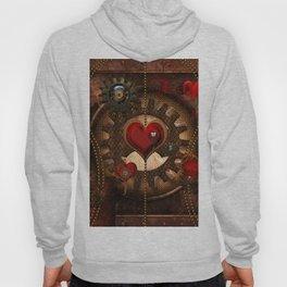 Steampunk, awesome steampunk heart Hoody