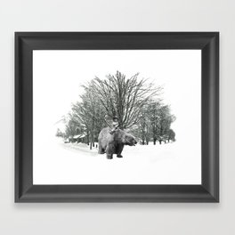 Little Billy's Polar Playtime Framed Art Print