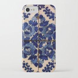 Blue old portuguese tile iPhone Case