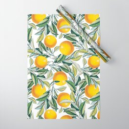 Lemon and Leaf Pattern VI Wrapping Paper