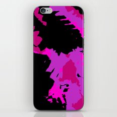 Fuchsia and black abstract iPhone Skin