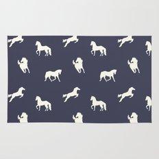 Horse Print (Navy Slate) Rug