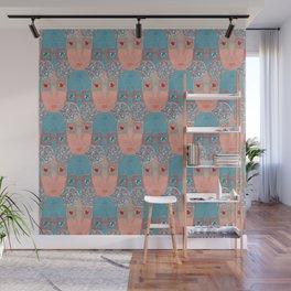Elderly Woman Pattern Wall Mural