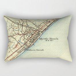 Vintage Map of Myrtle Beach South Carolina (1940) Rectangular Pillow