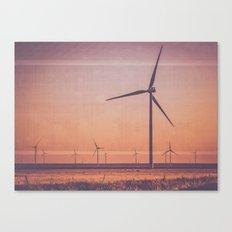 Route 66 Road Trip - Windmills at Dawn Midpoint Adrian TX Canvas Print