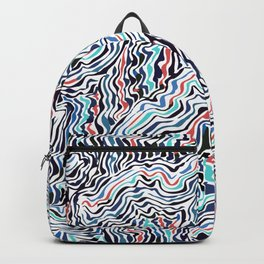 black topography Backpack