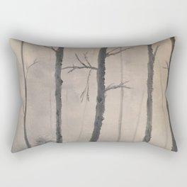Misty Forest - Birch trees Rectangular Pillow